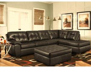 leather sectional sofa with chaise (pick up today)