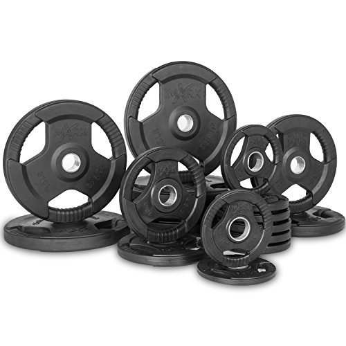 XMark Fitness Rubber Coated Olympic Weight Set