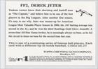 Derek Jeter (Baseball Card) 2007 Topps Flashback Fridays #FF2