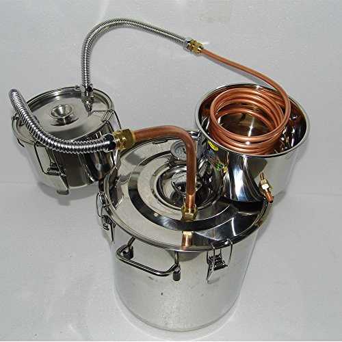 Seeutek Copper Alcohol Moonshine Ethanol Still Spirits Stainless Steel Boiler