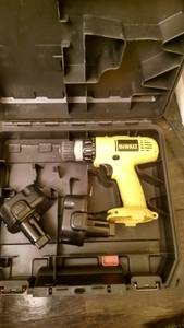 Dewalt 12v volt drill wall