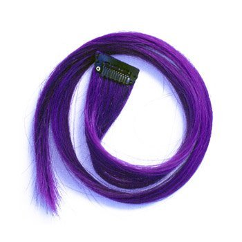 Purple Clip in Human Hair Extensions Straight 100% Remy Human Hair Purple Clip