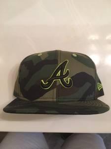Atlanta Braves MLB Military Fatigue Fashion 59FIFTY Cap (Buford, Georgia)