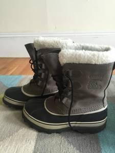 Sorel Caribou Women's Size 9 Waterproof Winter Boots in Shale/Stone