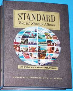1969 H.E. Harris 2-Volume Standard World Stamp Albums - Both Are Mint!