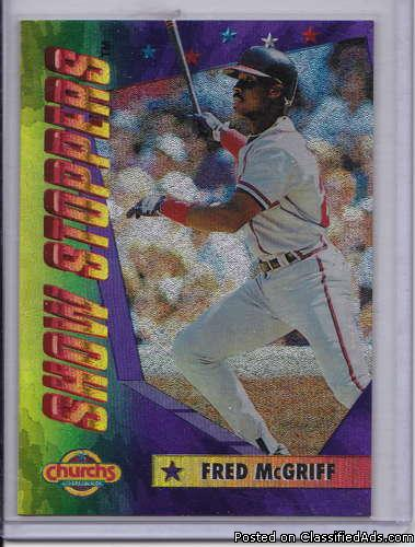 Fred McGriff 1994 Church's Show Stoppers 6 of 10