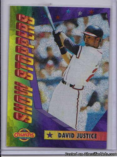 David Justice 1994 Church's Show Stoppers 4 of 10
