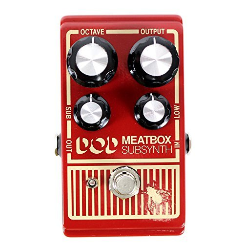 Digitech DOD Sub-Synth Meatbox Pedal With A Pair of Patch Cables