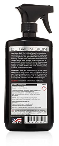 Detail Vision Quick Wax Detailing Spray Boat/Car/RV Spray On Wipe Off (Made in