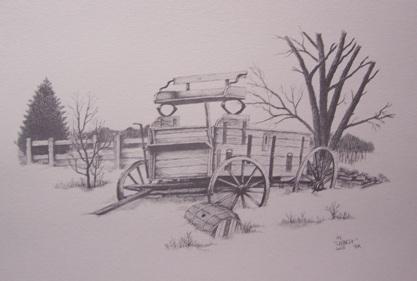 Buckboard Drawing