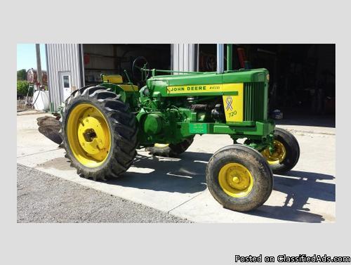 1957 John Deere 720 Diesel Tractor Plow