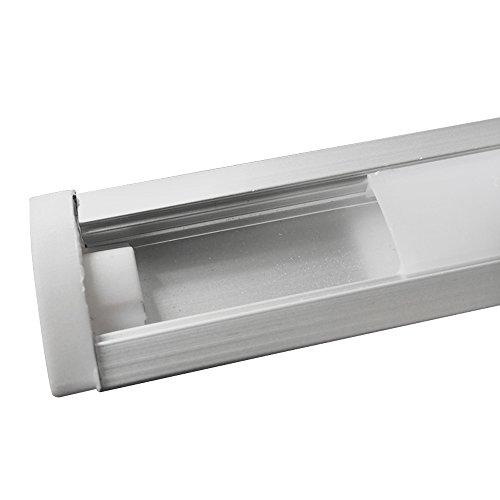 JIRVY 5 Pack Led Channel ,Led Aluminum Channel 1m / 3.3ft U-Shape Aluminum