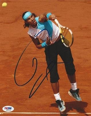 Rafael Nadal Signed Photo - FRENCH OPEN 8x10 PSA DNA Q59124
