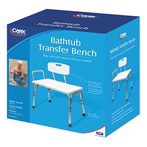 Carex Bathtub Transfer Bench, 12.4 Pound