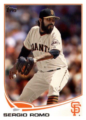 2013 Topps Baseball Card # 154 Sergio Romo San Francisco Giants