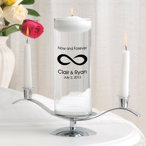 Personalized Floating Wedding Unity Candle Set- Now and Forever