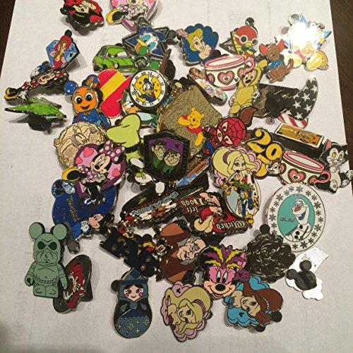 Disney Hidden Mickey Cast Lanyard Collector Badge Pin LOT of 50 Pins NO DOUBLES