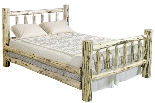 Montana Woodworks Collection Bed, King, Clear Lacquer Finish