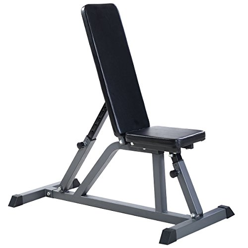 Gracelove Adjustable Folding Sit Up AB Incline Abs Bench Flat Fly Weight Workout