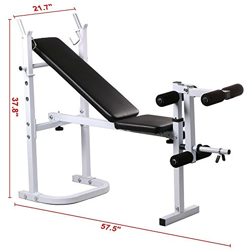 Yaheetech Weight Lifting Bench Fitness Workout Home Exercise Adjustable Incline