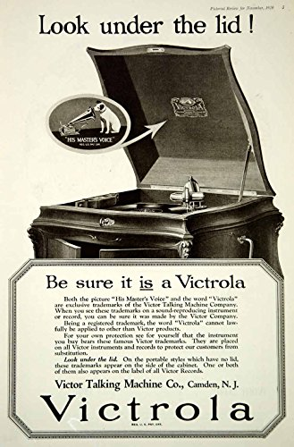 1920 Ad Vintage Victor Talking Machine Victrola Cabinet Phonograph Record Player