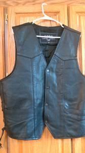 Black Leather Harley Vest (Bemidji)