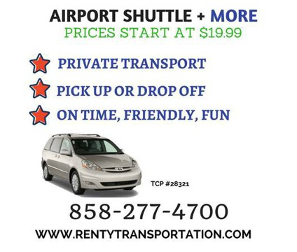 Airport Shuttle starting at 20