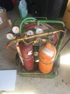 Torch Oxygen Acetylene set up with tanks