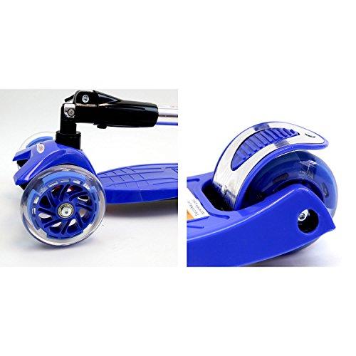 Chrome Wheels Three Wheel Foldable Scooter (Black)