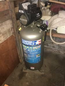 30 gal Campbell Hausfeld Air compressor 5HP (West Hartford)