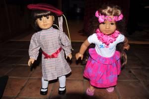 American Girl Dolls Kanani and Samantha