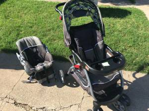 Baby stroller and car seat carrier