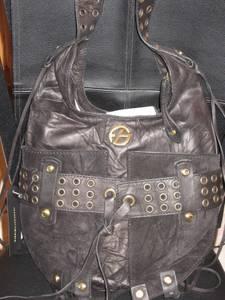 Designer Black Leather Handbag (Las Vegas)