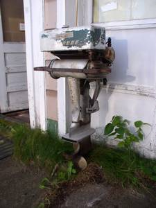 Evinrude antique outboard motor 1940s (WASHBURN, WI)