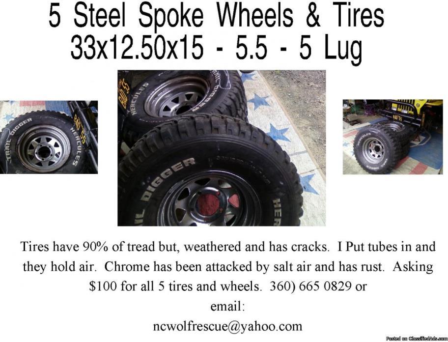 5 Wheels &Tires