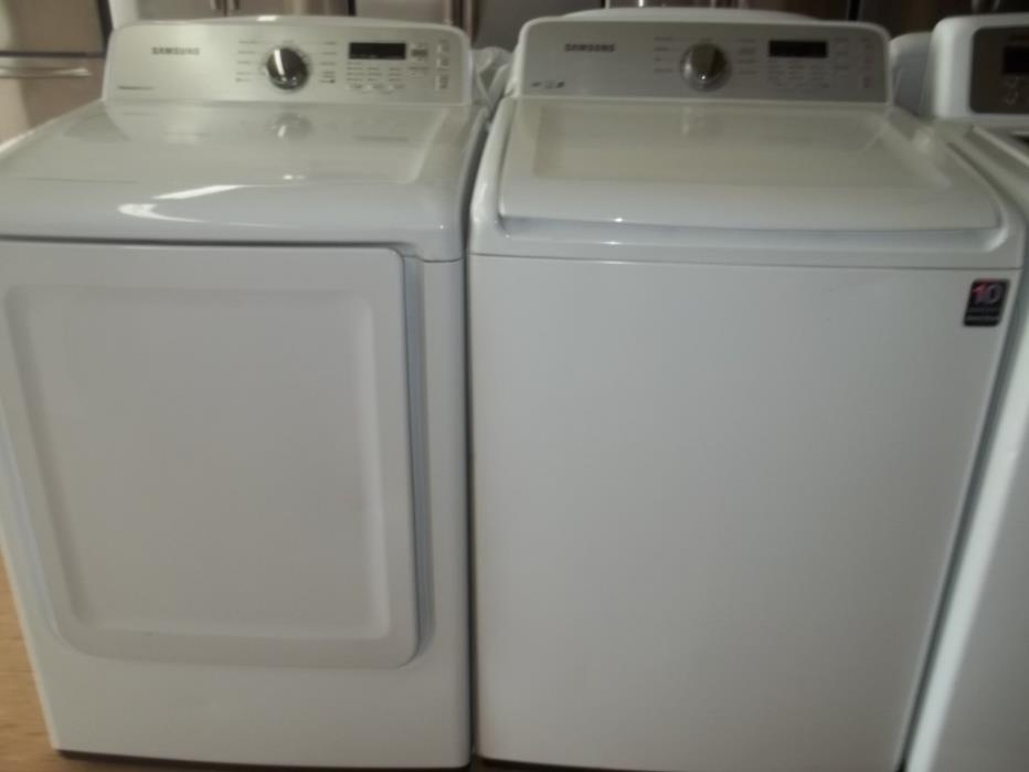 SAMSUNG TOP-LOAD WASHER & DRYER