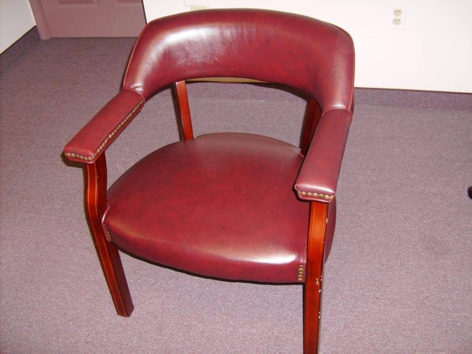 Waiting Room Chairs Red Leather In Great Condition