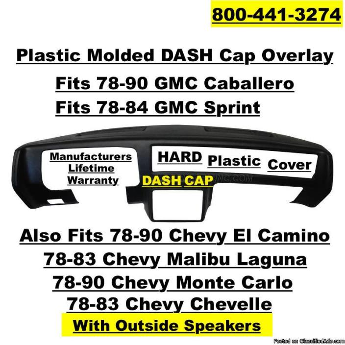 Plastic DASH Cap Overlay Hard Cover Fits GMC & Chevy