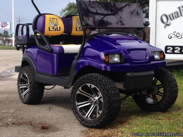 Custom LSU Golf Cart
