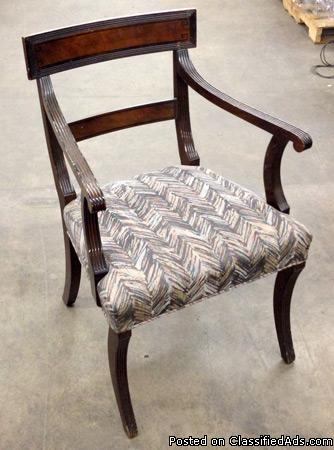 Wood Upholstered Decorative Arm Chair