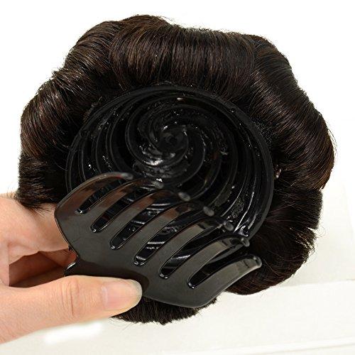 A&R@100% Human Hair Donut Bun Hair Extension Chignon Hairpiece Extensions