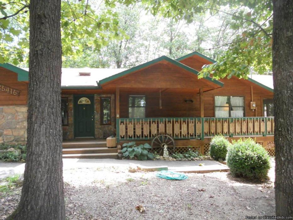 Enjoy This Lakey Cedar & Stone Home With Open Floorplan